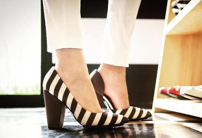 zapatos rayados